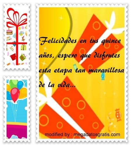 Dedicatorias de cumpleaños para quinceañera, Hermosos textos de cumpleaños para quinceañera
