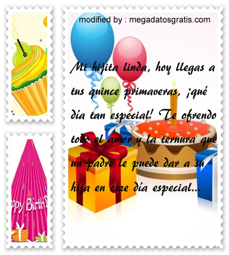Frases de cumpleaños para quinceañera, Originales sms para saludar a quinceañera