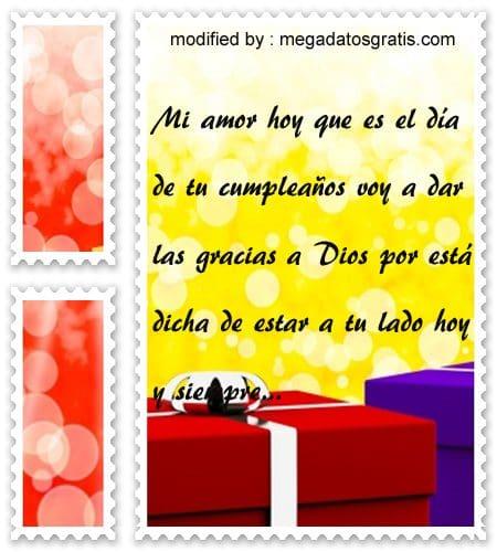 Mensajes de amor por cumpleaños,palabras de cumpleaños para mi amor