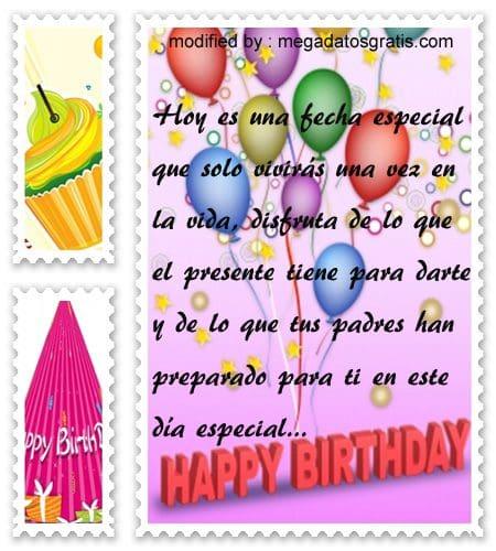 Mensajes de cumpleaños para quinceañera,Bonitas dedicatorias de feliz cumpleaños para quinceañera