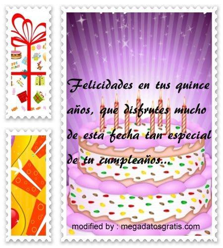 Pensamientos de cumpleaños para quinceañera,especiales saludos de cumpleaños para quinceañera