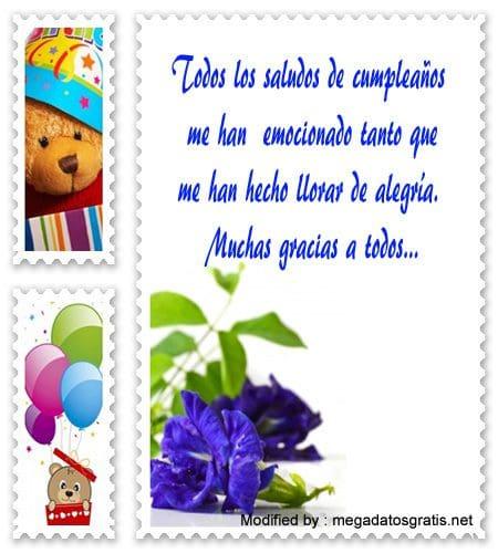 mensajes bonitos de agradecimiento de cumpleaños,Mensajes de agradecimiento de cumpleaños