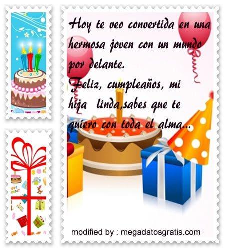saludos originales de cumpleaños para mi hija,enviar sms de cumpleaños para mi hija,bonitos textos de feliz cumpleaños para mi hija