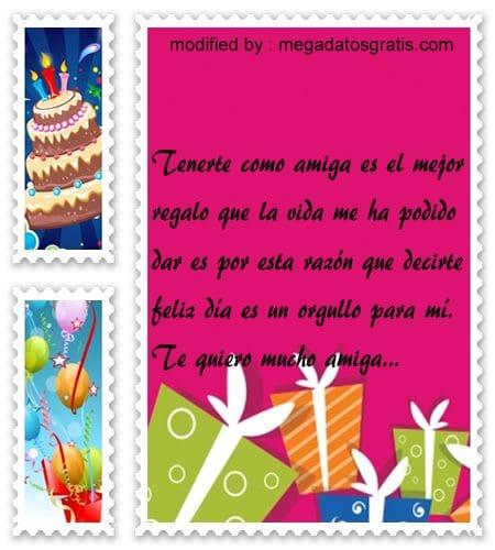 Bellos textos con saludos de cumpleaños para amiga,Bonitas dedicatorias de feliz cumpleaños para tu amiguita