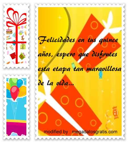 Dedicatorias de cumpleaños para quinceañera,Hermosos textos de cumpleaños para quinceañera