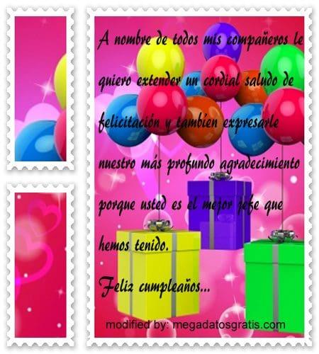 Mensajes de cumpleaños jefe,Bellos mensajes de cumpleaños para tu jefe