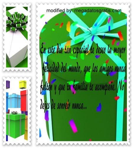 Palabras de cumpleaños,textos de cumpleaños