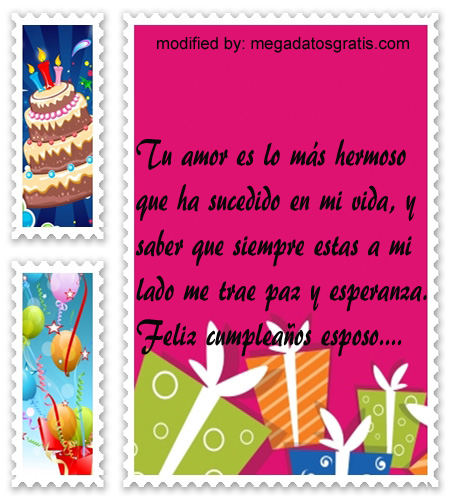 Palabras de cumpleaños esposo, especiales saludos de cumpleaños para tu esposo