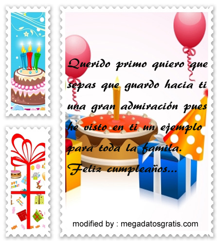 SMS de cumpleaños primo,Espléndidas palabras de cumpleaños para tu primo