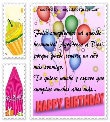 Textos de cumpleaños para mi hermanito,  nuevos poemas de cumpleaños para tu hermanito