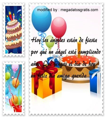 mensajes bonitos de cumpleaños para mi amiga,Originales sms para saludar a tu amiga por su cumpleaños