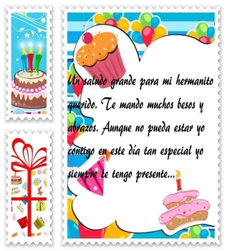 palabras de cumpleaños para mi hermanito, obsequiar bellas palabras de cumpleaños para tu hermanito