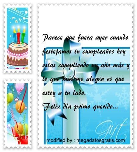 palabras de cumpleaños primo,Bellos mensajes de cumpleaños para tu primo