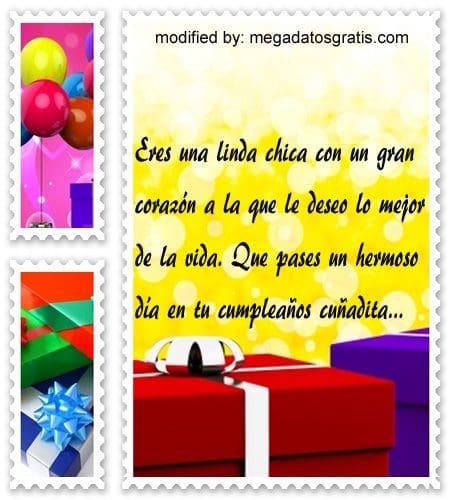 Frases de cumpleaños cuñada,especiales saludos de cumpleaños para tu cuñada