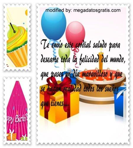 Frases de cumpleaños para Whatsapp,bonitos saludos de cumpleaños