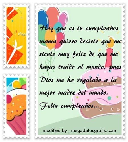 Palabras de cumpleaños a mi madre, Bellos mensajes de cumpleaños para tu madre