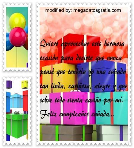 Poemas de cumpleaños cuñada,Originales sms para saludar a tu cuñada por su cumpleaños