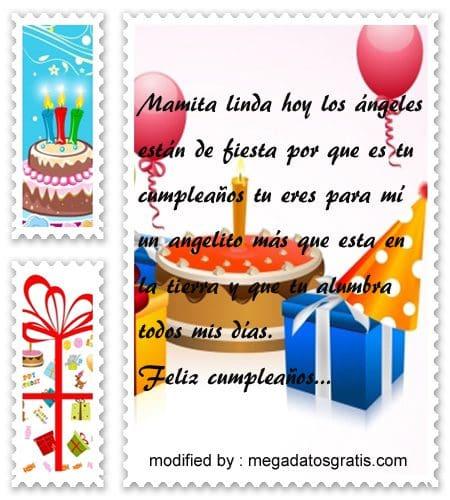 Textos de cumpleaños a mi madre,Espléndidas palabras de cumpleaños para tu mamita