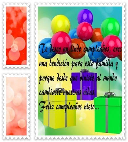 Textos de cumpleaños para mi nieto, nuevos poemas de cumpleaños para tu nieto
