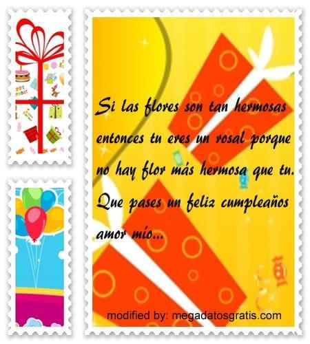 Textos de cumpleaños para mi novia,Lindas frases de cumpleaños para tu novia