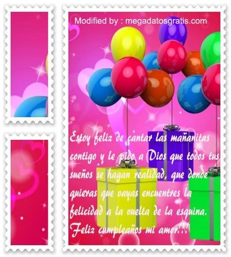 descargar mensajes bonitos de cumpleaños con imàgenes para mi novia, mensajes con imàgenes romànticas para mi esposa