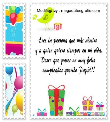 frases de cumpleaños para mi Papà,descargar mensajes bonitos de cumpleaños para mi Papà