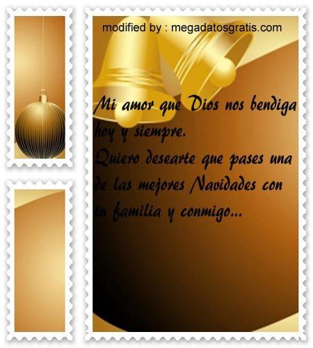 postales de mensajes de Navidad,bonitos mensajes Navideños para tu novia