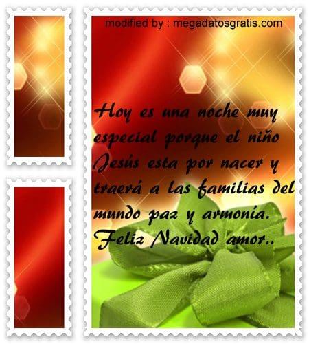 postales de mensajes de Navidad,bonitos poemas bellos para saludar a tu pareja por Navidad