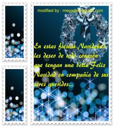 postales de mensajes de Navidad,saludos de Navidad para enviar por Messenger