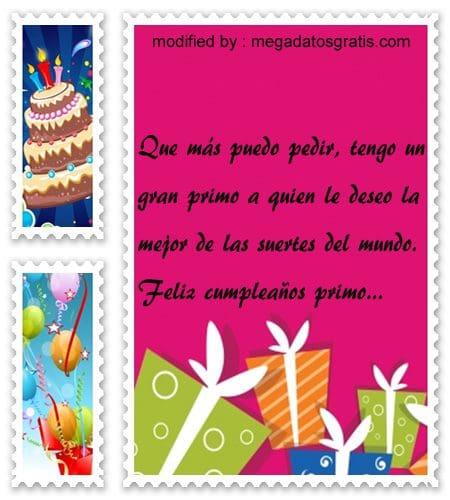 textos de cumpleaños primo, Espléndidas palabras de cumpleaños para tu primo