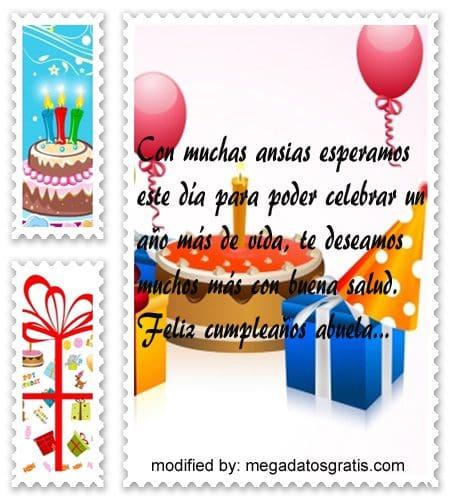 Mensajes de cumpleaños abuela, Originales sms para saludar a tu abuela por su cumpleaños