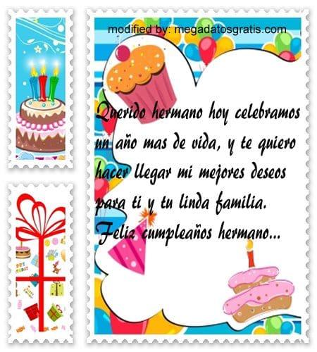Mensajes de cumpleaños hermano,Lindas frases de cumpleaños para tu hermano