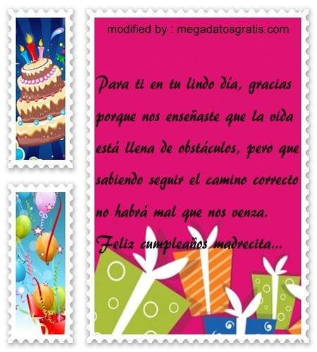 Poemas de cumpleaños para mi madre, Bonitas dedicatorias de feliz cumpleaños para tu mamita