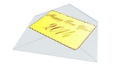 Hermosa carta de año nuevo para tu novia