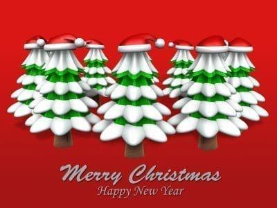 Bonitos saludos a mis amigos por Navidad y año nuevo
