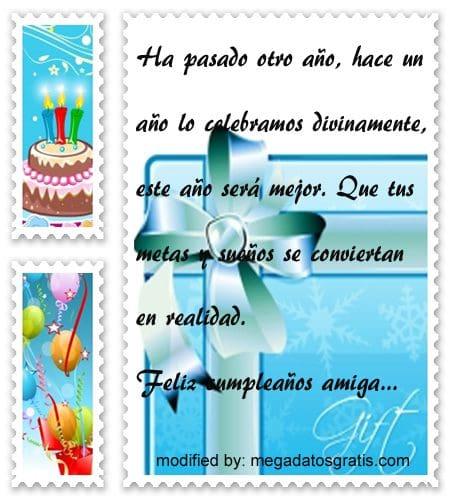 Dedicatorias de cumpleaños para mi amiga,tarjetas de cumpleaños para mi amiga