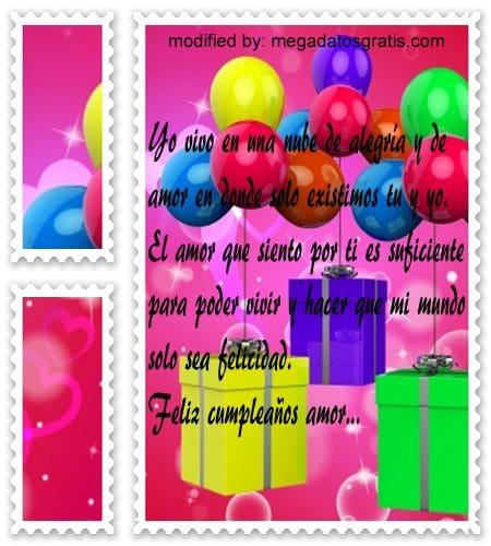 Frases para mi pareja por cumpleaños,Bellos mensajes de cumpleaños para tu pareja