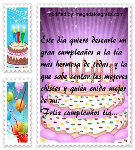 Mensajes a mi tia de cumpleaños,Bonitas dedicatorias de feliz cumpleaños para tu tia