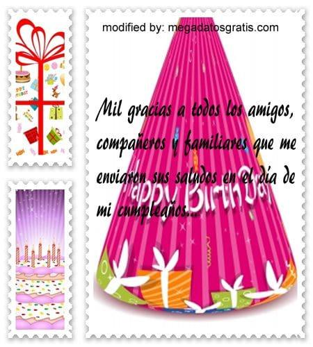 Mensajes de cumpleaños para facebook,tiernas palabras de cumpleaños para facebook