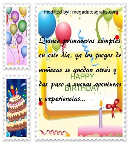Textos de cumpleaños para quinceañera,Bonitas dedicatorias de feliz cumpleaños para quinceañera
