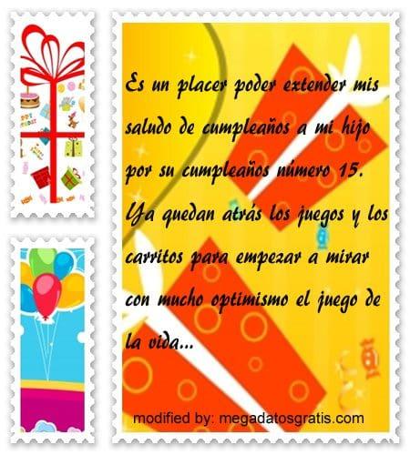 dedicatorias para un quinceañero,Bonitas dedicatorias de feliz cumpleaños para quinceañero