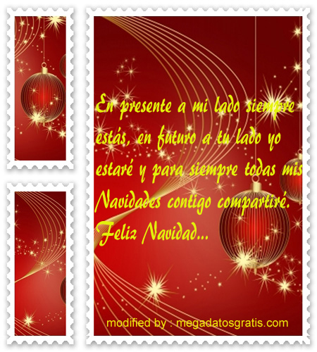 postales de mensajes de Navidad,frases bonitas de Navidad para mi novio