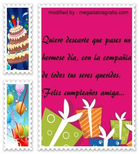 Textos de cumpleaños,palabras de cumpleaños a mi amiga