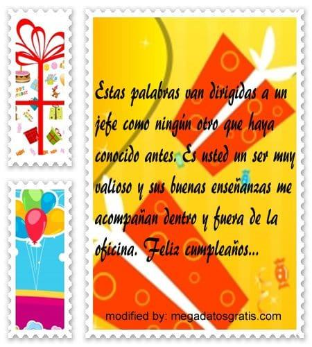 Frases de cumpleaños jefe, Originales sms para saludar a tu jefe por su cumpleaños