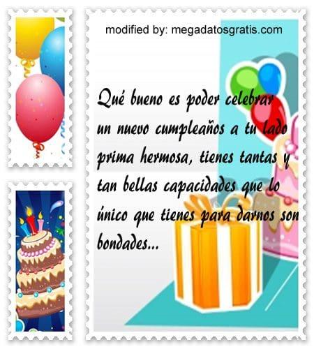Mensajes a mi prima por su cumpleaños,Bellos mensajes de cumpleaños para tu prima