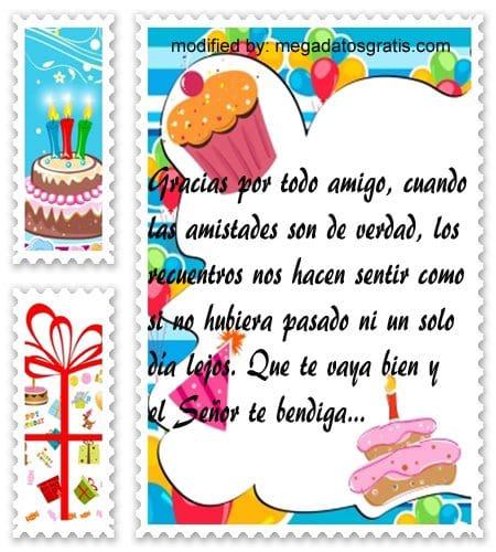 Mensajes de agradecimiento por cumpleaños,palabras para dar las gracias por saludos de cumpleaños