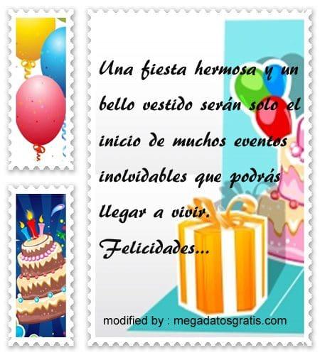 palabras de cumpleaños para quinceañera, Hermosos textos de cumpleaños para quinceañera