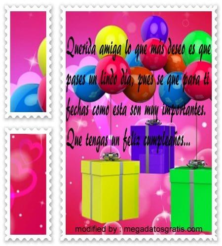 postales con textos bonitos de cumpleaños para un amigo,lindas frases de cumpleaños para enviarle a tu amiga