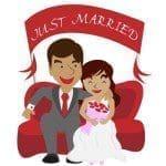 frases de los recièn casados, textos de los recièn casados