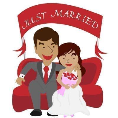 Bellos estados de Facebook de recién casados con imágenes